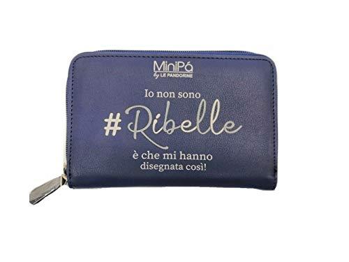 Portafogli Minipà Le Pandorine Colore Blu 16x10 cm Prodotto Ufficiale