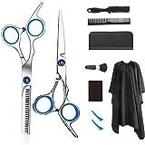 Professional barber set hair cutting scissors set 9 PCS hairdressing scissors kit, salon home shear kit for men women and children (cutting set)