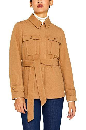 ESPRIT Collection Damen 099EO1G073 Jacke, Braun (Camel 230), X-Large (Herstellergröße: XL)