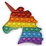 Droquimur | Juguete Antiestrés | Pop It Sensorial | Explotar Burbujas | Unicornio | Arcoiris Multicolor