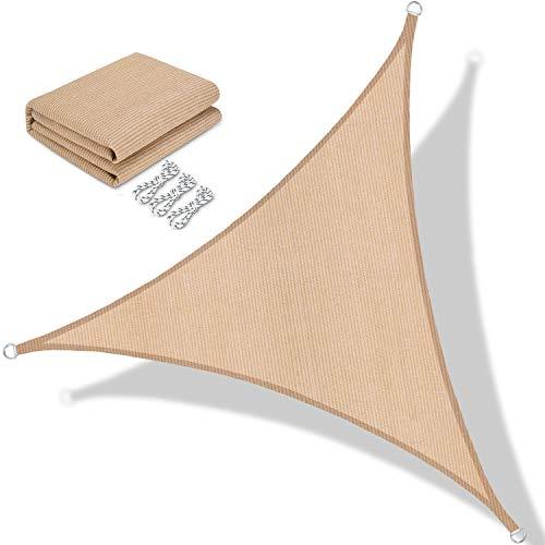 BOLTLINK Sun Shade Sail Triangle 16'x 16'x 16' Canopy UV
