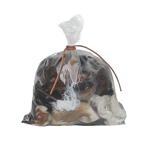 Ensuite 500 Gramm Fellreste Mix zum basteln, Fellstücke vom Lammfellen, Rotfuchsfellen, Kaninchenfellen