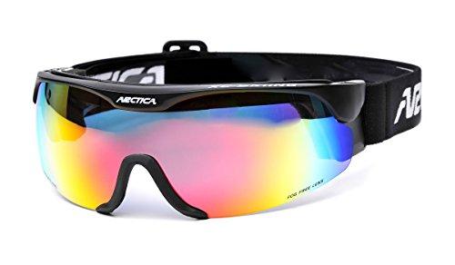 ARCTICA® *XC SKINING* Skibrille Snowboardbrille Skibrille - Langlauf (S-167 Gestell: schwarz)