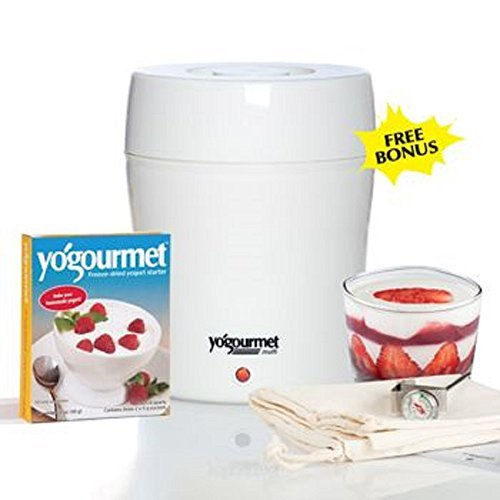 "New! Unique ""Water Bath System"" Electric Yogurt Maker, White Finish"