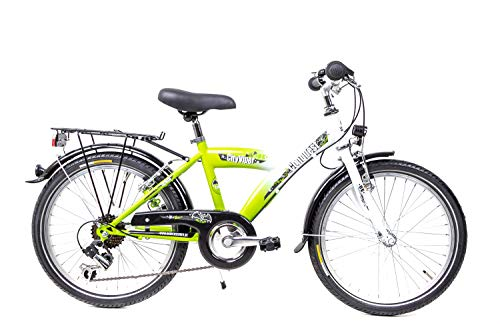 20 Zoll Kinderrad Fahrrad ATB Bike Shimano 6 Gang STVZO Grün Weiß