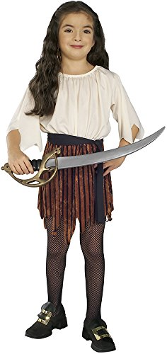 Rubies - Disfraz de piratesa, para niñas, talla M (12143-M)