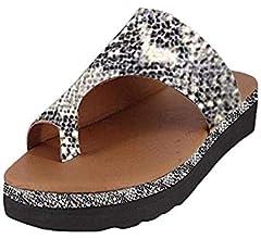 Femmes Sandales /Ét/é Plate-Forme Talons Hauts Chaussures De Plate-Forme Compens/ées Chaussures De Plage Casual Maison Sortie Slip Pantoufles