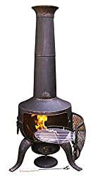 Gardeco STEELCHI-7-BR Large Tia Chimenea - Bronze