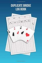 Duplicate Bridge Logbook: A book of log sheets: Perfect for scorekeeping: Blue cover
