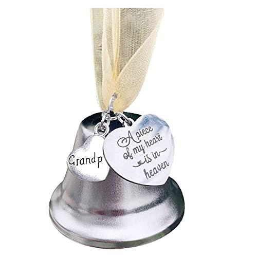 CHUXI Adornos navideños 2021 para personalizar adornos conmemorativos para la pérdida de un ser querido Inspir Angel Bell Heartfelt recuerdo regalo