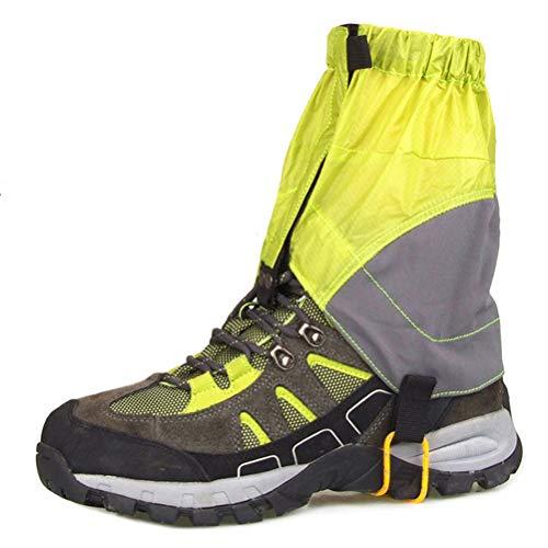 LYAID wasserdichte Gamaschen mit niedrigem Knöchel zum Wandern, schneesichere wasserdichte ultraleichte Gamaschen zum Wandern, Gehen, Radfahren, Angeln, Wüstencamping, Klettern,Grün