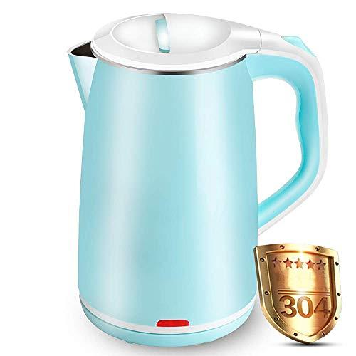 Pfeifkessel Wasserkocher aus Edelstahl, Energiesparender Wasserkocher, 1.8 Liter Inhalt, 1800 W, Blau