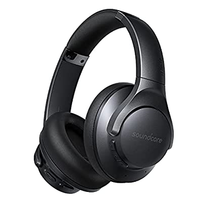 Soundcore by Anker Life Q20+ Active Noise Cancelling Headphones, 40H Playtime, Hi-Res Audio, Soundcore App, Connect to 2 Devices, Memory Foam Earcups, Bluetooth Headphones for Travel, Home Office by Anker