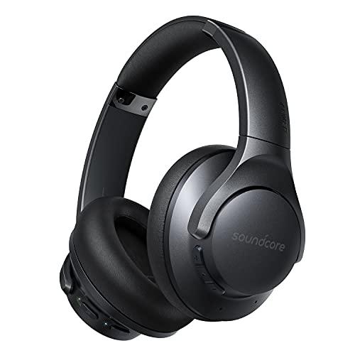 Soundcore by Anker Life Q20+ Bluetooth-Kopfhörer mit aktiver Geräuschisolierung, 40h Akkuleistung, Hi-Res Audio, Soundcore App, Verbindung mit 2 Geräten gleichzeitig, Für Homeoffice, auf Reisen