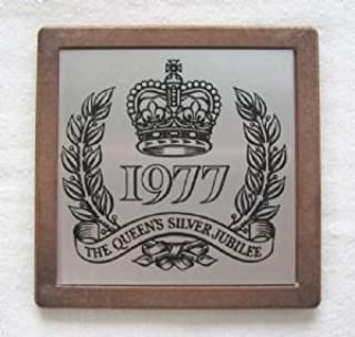 1977 The Queen's Silver Jubilee Souvenir Plaque Coaster