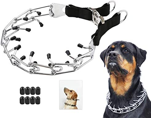 Mayerzon Dog Prong Training Collar Stainless Steel Choke Pinch Dog Collar with Comfort Tips product image