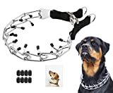 Mayerzon Dog Prong Training Collar, Stainless Steel Choke Pinch Dog Collar with Comfort Tips (Collar) (XL, Black)