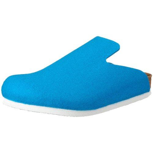 Birkenstock Davos 142081, Unisex - Erwachsene Clogs & Pantoletten aus Birko-Filz, Blau (Blau), EU 36 (normal)