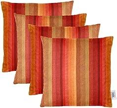 RSH Décor Set of 4 Indoor/Outdoor Square Throw Pillows Sunbrella Astoria Sunset (20