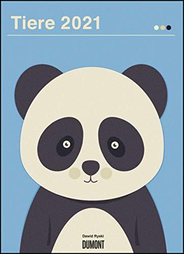 Dawid Ryski: Tiere 2021 – Kinder-Kalender – Poster-Format 49,5 x 68,5 cm
