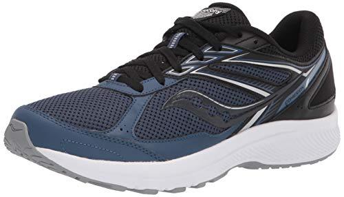 Saucony Men's Cohesion 14 Running Shoe, Blue/Black, 10.5