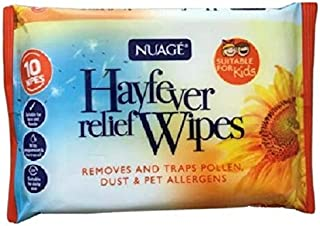 Nuage Hayfever Relief Wipes 10 Pack x 3 (30 Total) Travel