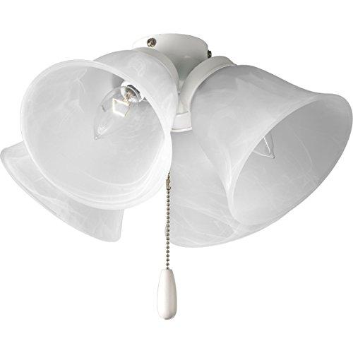 Progress Lighting P2643-30 4-Light Universal Fan Light Kit, White