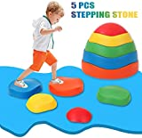 szlsl88 Balance Beam For Kids,5pcs Indoor Stepping Stones,Balance Stones for Toddlers,Home Balance Training
