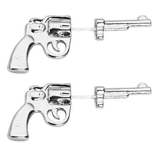 Aguja de plata 925 Pendientes delanteros y traseros con forma de pistola loli oscura europea y americana Pendientes femeninos Pendientes A