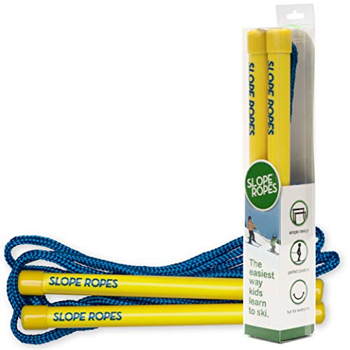 Slope Ropes® Ski-Leine für Kinder   Die einfachste Methode, um Kindern das Skifahren beizubringen (Gelb/Blau)