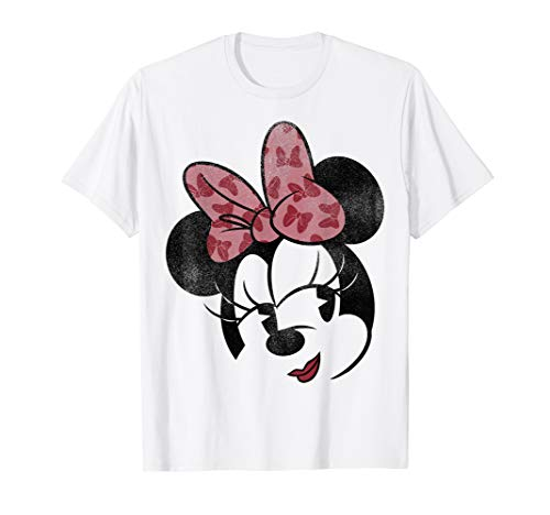 Disney Mickey And Friends Minnie Mouse Retro Big Face T-Shirt