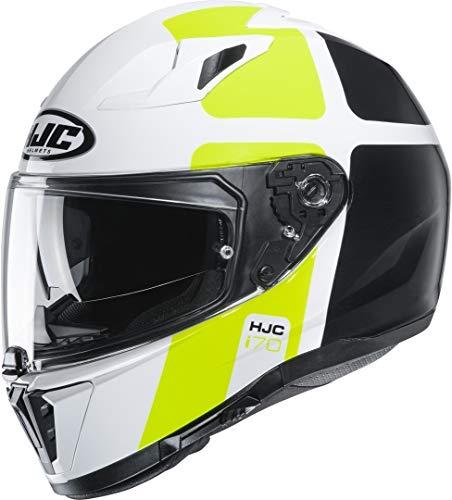 HJC Helmets Herren Nc Motorrad Helm, Weiss/Schwarz/Gelb, M