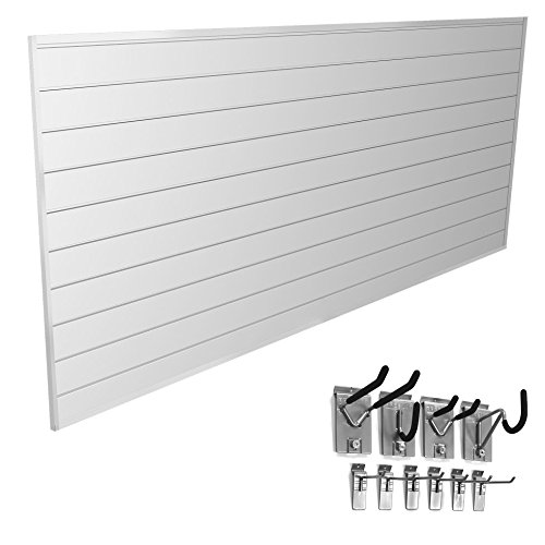 Proslat 33006 Mini Bundle with Slat Wall Panels and Mini Hook Kit, White