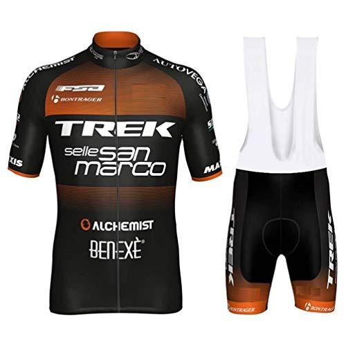 SUHINFE Costumi da Ciclismo per Uomini, Completo Ciclismo Uomo Estivo Maglia Ciclismo Maniche Corte Squadra Professionale