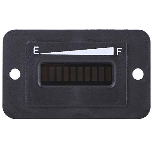Medidor de batería de plástico con gráfico de barras LED de 10 segmentos, indicador de batería, para advertencia de carga baja para carrito de golf(BI003-12/24V)