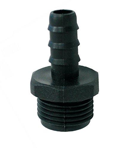 Racor macho 16mm x 1/2' negro (10 Unidades)
