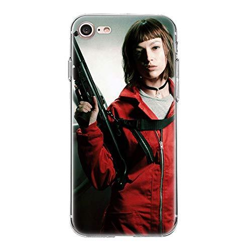 Giorno TV La Casa De Papel TPU Phone Case Cover For Funda iPhone Case Soft Shell 04 For Funda iPhone 7 Plus (Funda iPhone 8 Plus)