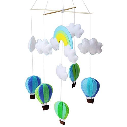 SUPVOX DIY Mobile Wolken Heißluftballon Regenbogen Baby Mobile Bett Mobile DIY Kinderzimmer Hänge Deko