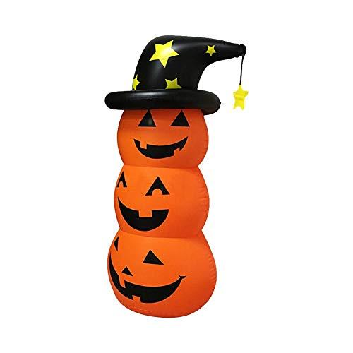 Junean Aufblasbarer Halloween-Kürbis, aufblasbare Halloween-Kürbis-Puppe, sichere aufblasbare Kürbis-Puppe, praktische Becher-Dekoration für Halloween-Karneval