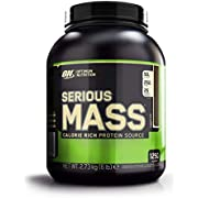 Optimum Nutrition Serious Mass Protein Powder High Calorie Mass Gainer with Vitamins, Creatine and Glutamine, Chocolate, 8 Servings, 2.73 kg