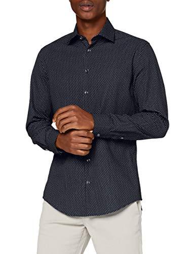 Seidensticker Herren Business Hemd, Schwarz, 38