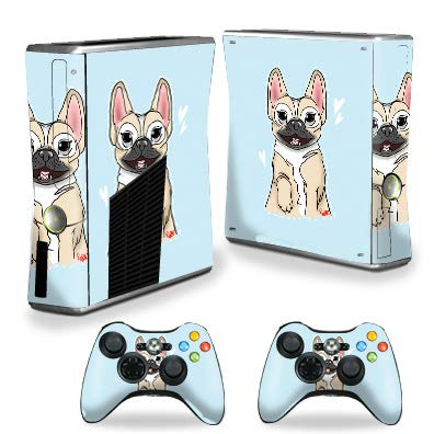 MightySkins Skin Compatible with Xbox 360 S Console - Frenchie Love | Protective, Durable, and Unique Vinyl Decal wrap Cover | Easy to Apply, Remove, and Change Styles | Made in The USA