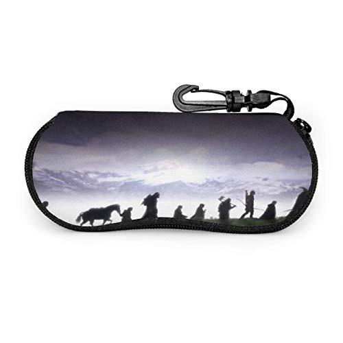 Lord Rings - Funda para gafas de sol con funda suave para gafas de sol (neopreno, ligero, cierre de cremallera)