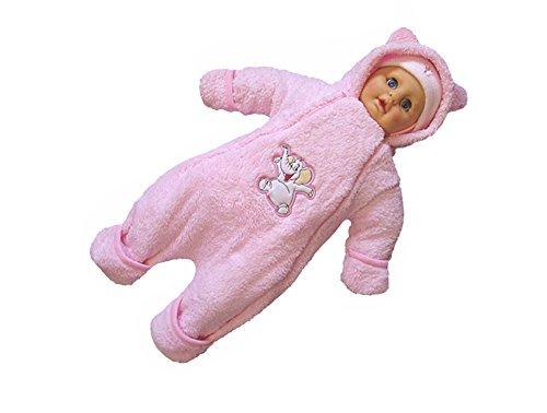 deine-Brautmode Overall Winteroverall Babyoverall Wagenanzug Winter Anzug Strampler Babyjacke Babyanzug rosa 74