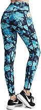 FETY Women's High Waisted Pattern Leggings Full-Length Yoga Pants