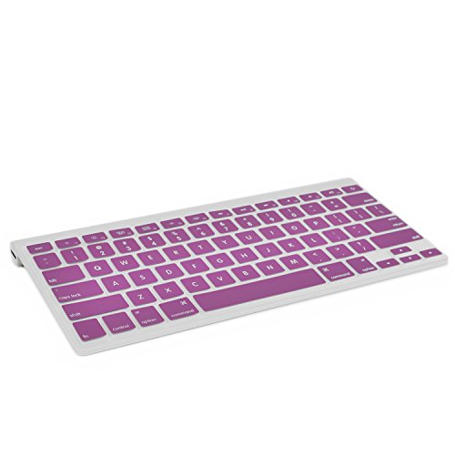 TOP CASE Silicone Cover Skin Compatible with Apple Wireless Keyboard with TOP CASE Mouse Pad (Apple Wireless Keyboard, Purple)