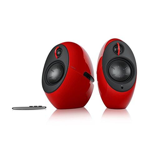 EDIFIER Luna E25 Design-Lautsprecherset mit Bluetooth (74 Watt), rot
