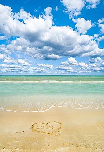 Fondo de Playa Tropical Junto al mar Verano Boda bebé cumpleaños Despedida de Soltera Fiesta Foto telones de Fondo Accesorios A5 5x3 pies / 1,5x1 m