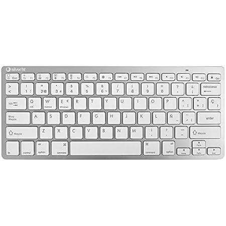 Silver HT 111936640199 - Teclado inalámbrico, color blanco y ...