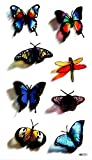 spestyle impermeable y no Tóxico colorido mariposas y libélulas realista Tatuajes Temporales Pegatinas